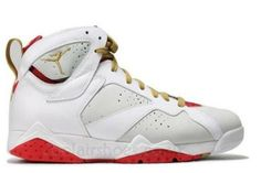 quality design e7e9e 728c2 Cheap Original Nike Air Jordan 7 Phat Retro   Year Of The Rabbit   Light  Silver And Metallic Gold-True Red-White Sneaker Sale Online St.