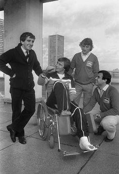 Alain Prost, René Arnoux, Didier Pironi et Patrick Tambay 1983