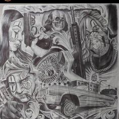 Chest Tattoo Drawings, Chicano Drawings, Chicano Tattoos Sleeve, Chicano Style Tattoo, Easy Drawings Sketches, Art Drawings, Cherub Tattoo Designs, Prison Drawings, Realistic Tattoo Sleeve