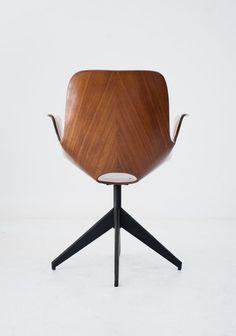 medea swivel chair by vittorio nobili for tagliabue
