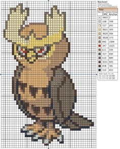 Pokémon – Noctowl Birdie's Patterns, Gaming, M - P, Noctowl, Pokémon 0 Comments Apr 302015