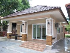 img_6890 Modern Bungalow House Design, House Roof Design, Flat Roof House, Home Building Design, Building A New Home, Small House Design, Home Design Plans, My House Plans, Bungalow House Plans