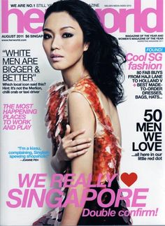 We really LOVE Singapore @ Her World Magazine Singapore Cover