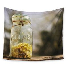 KESS InHouse Jar of Sunshine by Angie Turner Wall Tapestry Size: