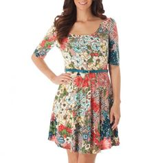 Elbow Sleeve Floral Dress.  So happy and pretty.