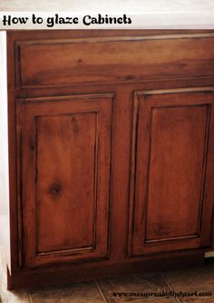 how to glaze cabinets, kitchen cabinets, kitchen design, painting, woodworking projects, Glazing is a great simple way to update your cabinets