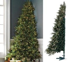 If you want a big tree and don't have a lot of room try this corner tree, it saves space.