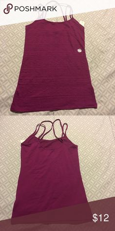 Beautiful cami Brand new cami with tags, straps are not adjustable. Color is a deep purple, kinda burgundy even Aeropostale Tops Camisoles