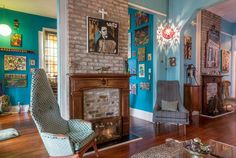 Brian & Emily's Art-Filled New Orleans Home ~ This house is so awesome; I want to move in.