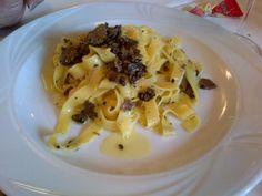 Pasta with truffles. Verona.