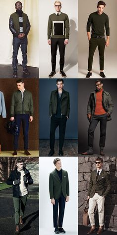 Men's 2014 Autumn/Winter Military Trend : Military Colour: Khaki Green/Olive Lookbook Inspiration