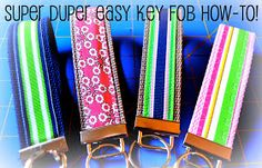 Little Bit Funky: how to make a key fob...in three easy ways!