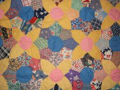 Several prints in this vintage 1930s quilt have been reproduced.  Once is an Aunt Grace, another is a EBTKS.