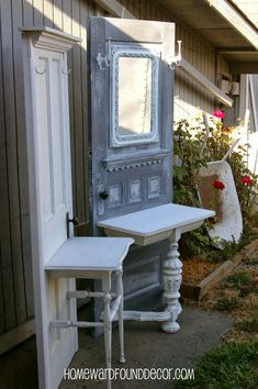 25 Diy Recycled Door And Window Projects - Top Do It Yourself Projects Refurbished Furniture, Repurposed Furniture, Furniture Makeover, Cool Furniture, Painted Furniture, Luxury Furniture, Repurposed Doors, Inexpensive Furniture, Old Door Projects