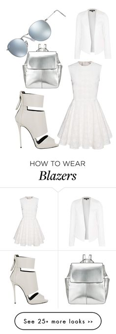 """""""blanc"""" by lina-kh on Polyvore featuring Giuseppe Zanotti, Kin by John Lewis, Topshop and Ray-Ban"""