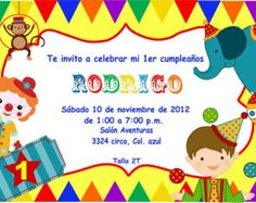 Circus Invitations - Birthday Party
