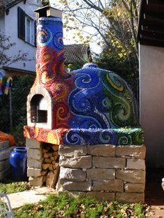 Frances Green - Mosaic Pizza Oven