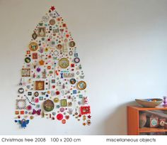 {miscellaneous objects = one cool wall tree!} by Jane Schouten