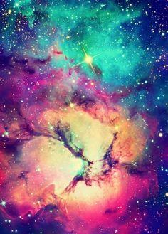 Imagen de galaxy, stars, and space