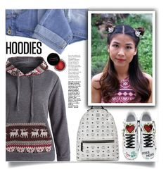 """""""In My Hood: Cozy Hoodies"""" by samra-bv ❤ liked on Polyvore featuring Taya, MCM, Dolce&Gabbana, Concrete Minerals and vintage"""
