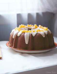 Apricot Filled Pumpkin Cake with Brown Butter Frosting | URBAN BAKES