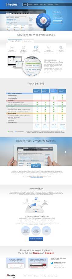 Parallels Pleask 12 website (www.plesk.com). Design by Yulia Yunusova