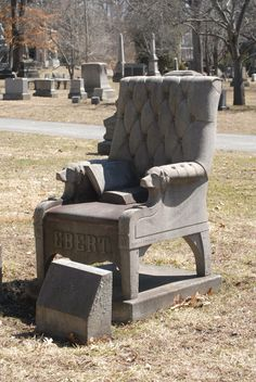 Chair grave Marker