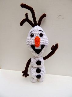 Olaf from movie Frozen https://www.google.com.au/search?dcr=0&biw=1676&bih=793&tbm=isch&sa=1&ei=c2h_Wr_iMcay0gT8-aOoCw&q=frozen+movie+olaf+crochet+rattle&oq=frozen+movie+olaf+crochet+rattle&gs_l=psy-ab.12...31213.32307.0.34872.6.6.0.0.0.0.190.669.0j4.4.0....0...1c.1.64.psy-ab..2.0.0....0.Z2CvK64mC9A#imgrc=jYbiN-kNE8KUfM:
