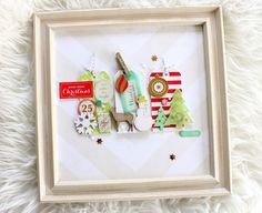 #christmas wall decoration with #CratePaper sleigh ride collection - #scrapbooking project by Janna Werner