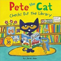 New York Times bestselling author and illustrator James Dean shows us how much fun reading can be in Pete the Cat Checks Out the Library. Includes over 30 . James Dean, Library Card, Library Books, Pete The Cats, New Children's Books, Treasure Maps, Up Book, Book Authors, Cat Life