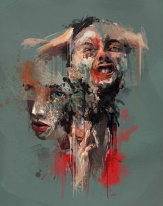 """Portraits of pain. Abstract Portrait, Portrait Art, Painting Inspiration, Art Inspo, Arte Grunge, Kreative Portraits, Art Alevel, Gcse Art Sketchbook, Identity Art"