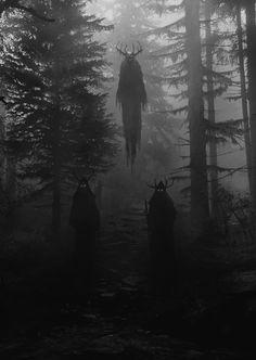 New Dark Art Illustrations God Ideas Fantasy Kunst, Dark Fantasy Art, Fantasy Witch, Arte Horror, Horror Art, Creepy Horror, Dark Art Illustrations, Illustration Art, Johanna Basford Enchanted Forest