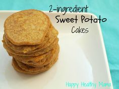 2-ingredient sweet potato cakes {gluten-free, dairy-free, nut-free} | Happy Healthy Mama