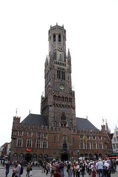 Belfry of Bruges, #Bruges #Belgium #beautifulplaces