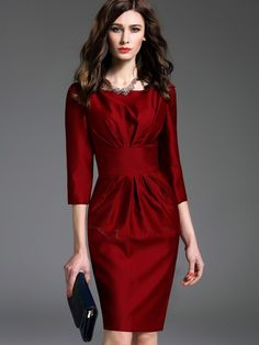 Cheap Dresses for Women, Buy Sweater & Long Fall Dresses Online Elegant Outfit, Elegant Dresses, Pretty Dresses, Casual Dresses, Cheap Dresses Online, Short Dresses, Dresses For Work, Look Fashion, Classy Outfits