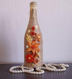 decoración de la botella de vino botellas de vino decoradas