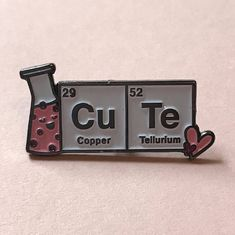 Valentine's CuTe Laboratory Science Enamel Pin- Tap the link now to see our super collection of accessories made just for yo