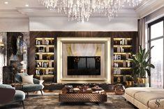 Luxury Interior Design, Interior Exterior, Interior Design Living Room, Living Room Designs, Classic Living Room, Elegant Living Room, Living Room Tv, Mode Instagram, Interior Design Presentation