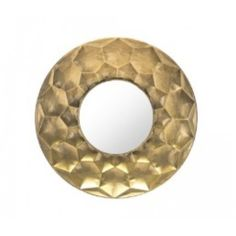 The Zuo Modern Sei Mirror shines bright in any décor. The unique stamped hexagon design adds dimension and texture to neutral spaces. Use one or more of these stylish mirrors to complete your hallway or entryway. Mantel Mirrors, Round Mirrors, Wall Mirrors, Golden Wall, Wall Mirror With Shelf, Planet Design, Gold Wall Decor, Gold Furniture, Beveled Mirror