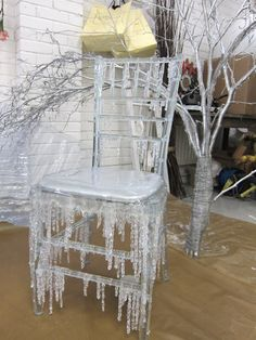 Rhea Thierstein - Art Director, Set Designer and Prop Stylist - Hot wax to look like ice Christmas Window Display, Christmas Decorations, Christmas Windows, White Christmas, Xmas, Halloween Karneval, Holiday Crafts, Holiday Decor, Winter Wonderland Wedding