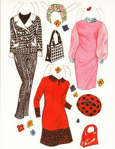 From the year 1966.  Very mod set with bold colors featuring the actress Jane Fonda.  2 dolls included with severa...