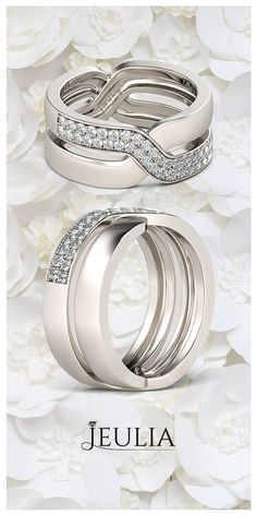 Crossover Round Cut Created White Sapphire Cocktail Ring #Jeulia