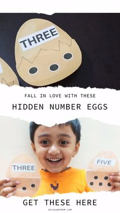 My toddler is loving these Math Numbers Surprise Eggs. Suitable for kids of Preschool, kindergarten and Pre-K on the theme of Easter. A fun filled activity of DIY Surprise Eggs to Count, Read and Learn Numbers. Number Games For Toddlers, Number Games Preschool, Word Games For Kids, Name Activities, Counting Activities, Learning Numbers, Math Numbers, Number Flashcards, Writing Numbers