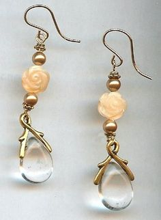 Sepia Rose Earrings