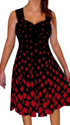 b3be46966ed Funfash Plus Size Clothing Red Black Diamond Women Cruise Cocktail Dre A  Line Cocktail Dress