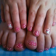 Toddler Hello Kitty Mani/pedi nails and toenails| Flickr - Photo Sharing!