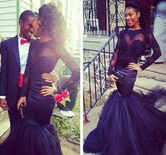 2016 New Mermaid Black Girls Prom Dresses Sheer Neck Long Sleeves Floor Length Evening Gowns Lace Appliques African Formal Party Dress Beautiful Prom Dress Betsy And Adam Prom Dresses From Angelia0223, $186.51| Dhgate.Com