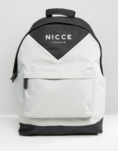 Nicce Logo Backpack With Chevron Colour Block