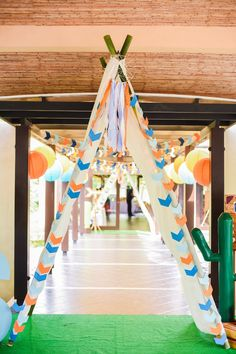 Teepee archway from a Boho Tribal Birthday Party on Kara's Party Ideas Indian Birthday Parties, Wild One Birthday Party, 1st Boy Birthday, First Birthday Parties, Indian Party, Birthday Ideas, Baby Shower Balloons, Baby Shower Themes, Pocahontas Birthday Party