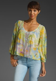 a1b36f2f <3 Tracy Reese, Peasant Tops, Floral Watercolor, Revolve Clothing, Fashion  Shoes